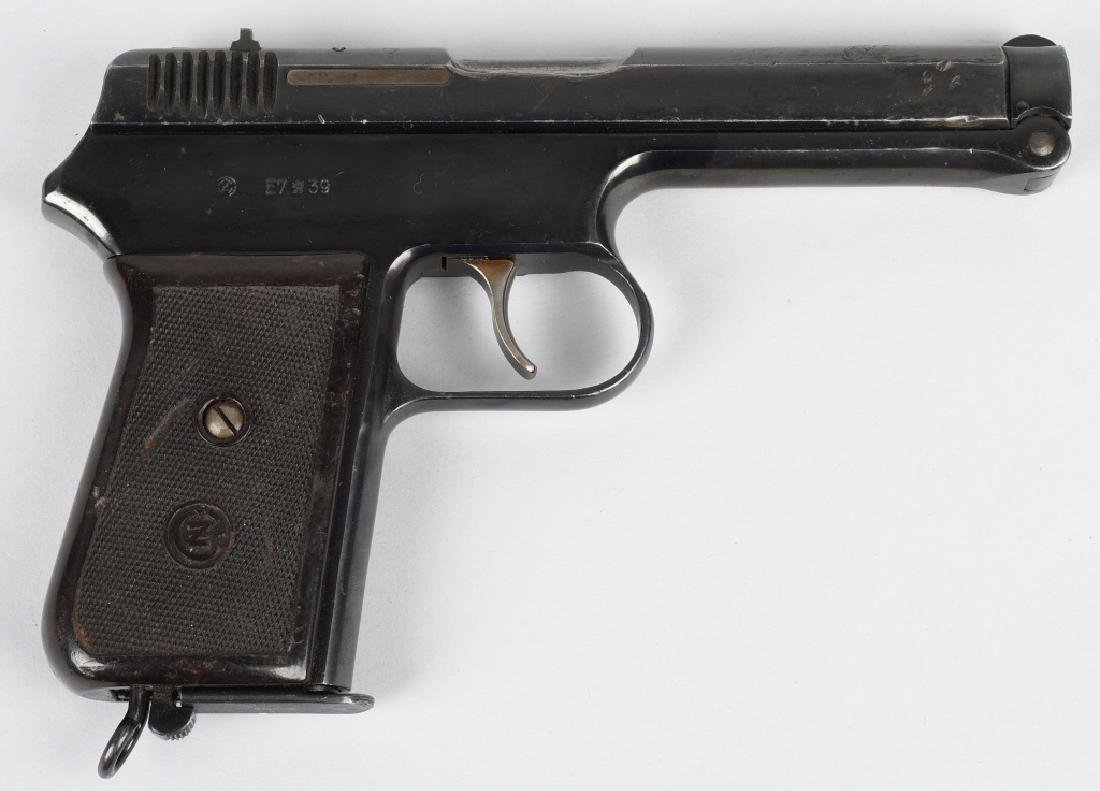 CZ 1938, E7-39 .380 SEMI AUTO PISTOL w/ HOLSTER - 2