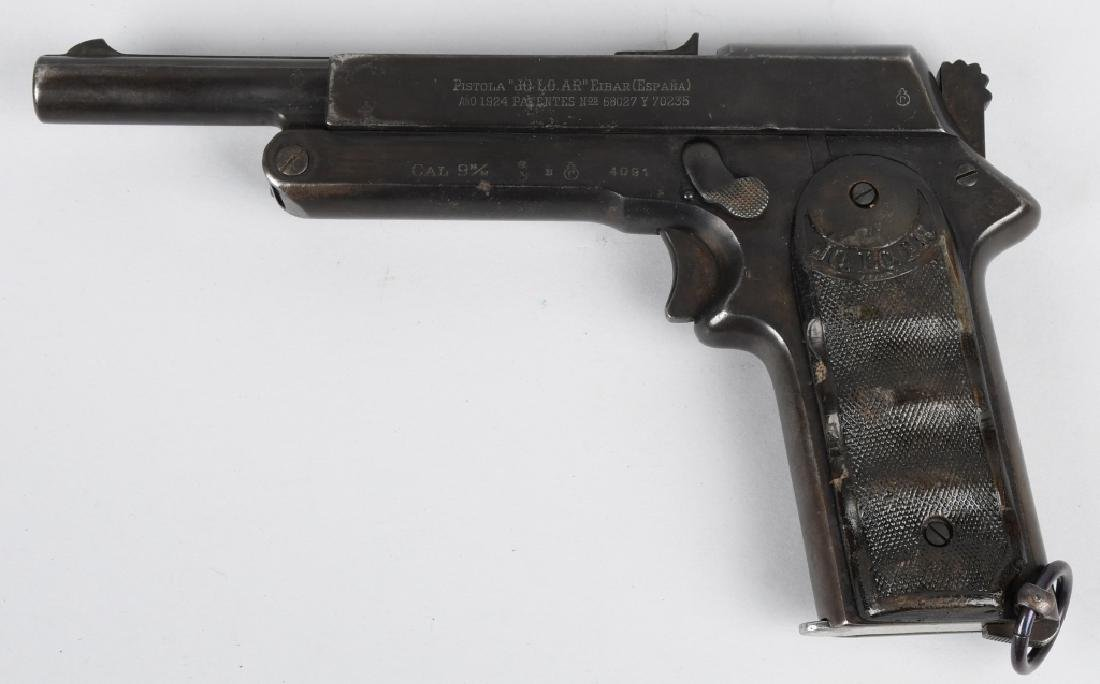 SPANISH JO-LO-AR 9mm SEMI AUTO PISTOL w/ HOLSTER - 4