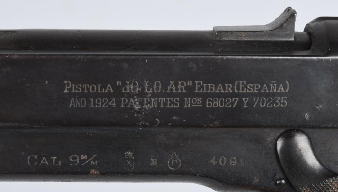 SPANISH JO-LO-AR 9mm SEMI AUTO PISTOL w/ HOLSTER - 5