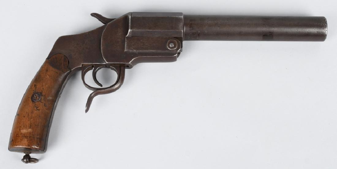 WWI GERMAN 26.5mm FLARE GUN, UNIT MARKED