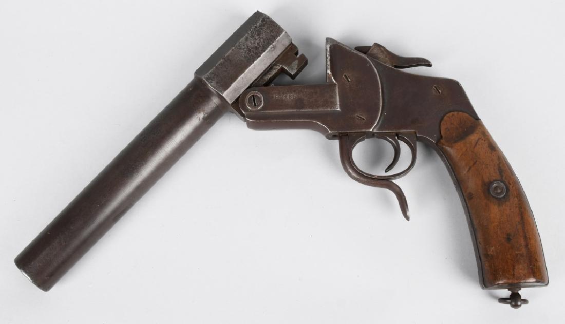 WWI GERMAN 26.5mm FLARE GUN, UNIT MARKED - 3