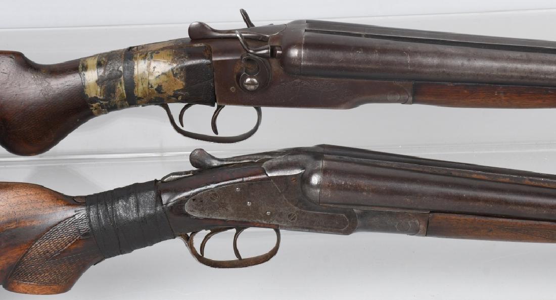 2- SxS 12 GA. SHOTGUNS, BAKER and STEVENS - 2
