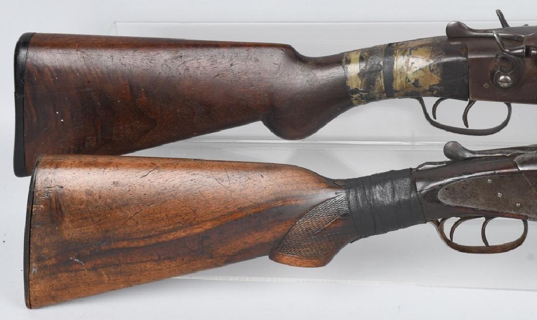 2- SxS 12 GA. SHOTGUNS, BAKER and STEVENS - 3