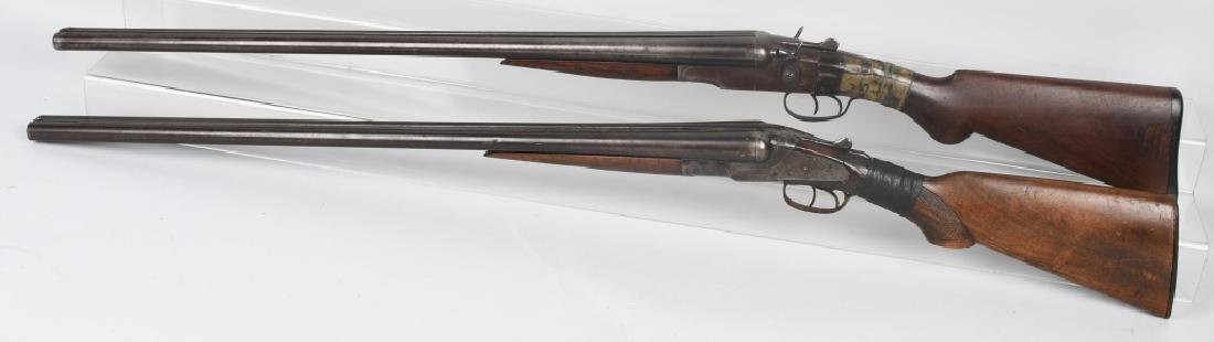2- SxS 12 GA. SHOTGUNS, BAKER and STEVENS - 4
