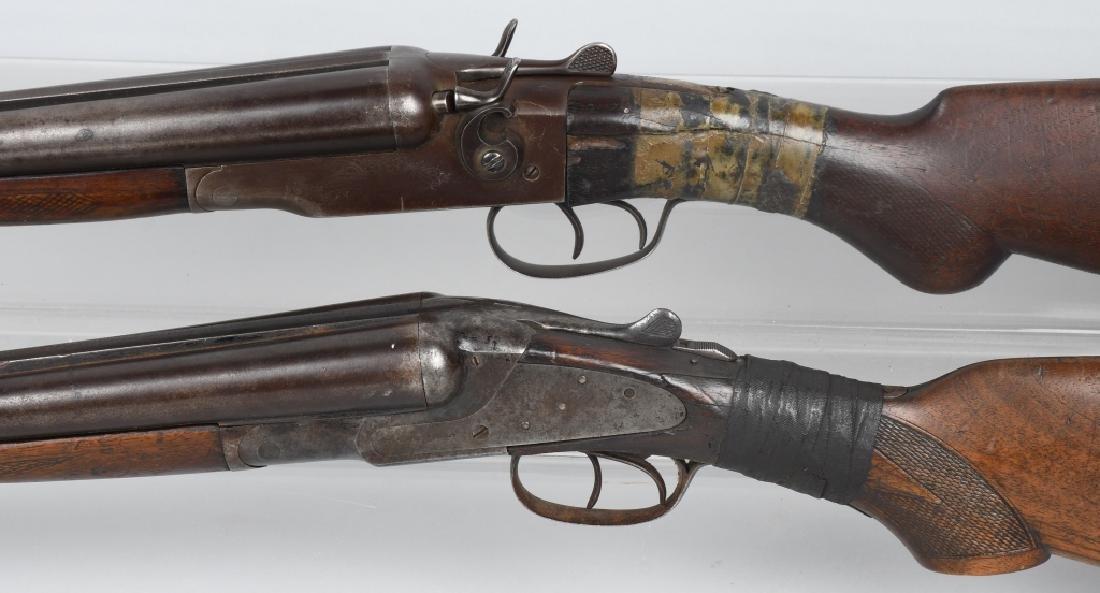 2- SxS 12 GA. SHOTGUNS, BAKER and STEVENS - 5