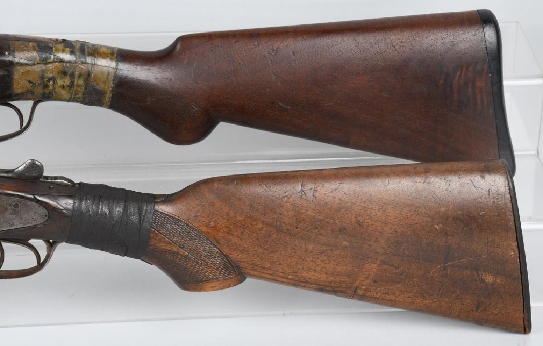 2- SxS 12 GA. SHOTGUNS, BAKER and STEVENS - 6