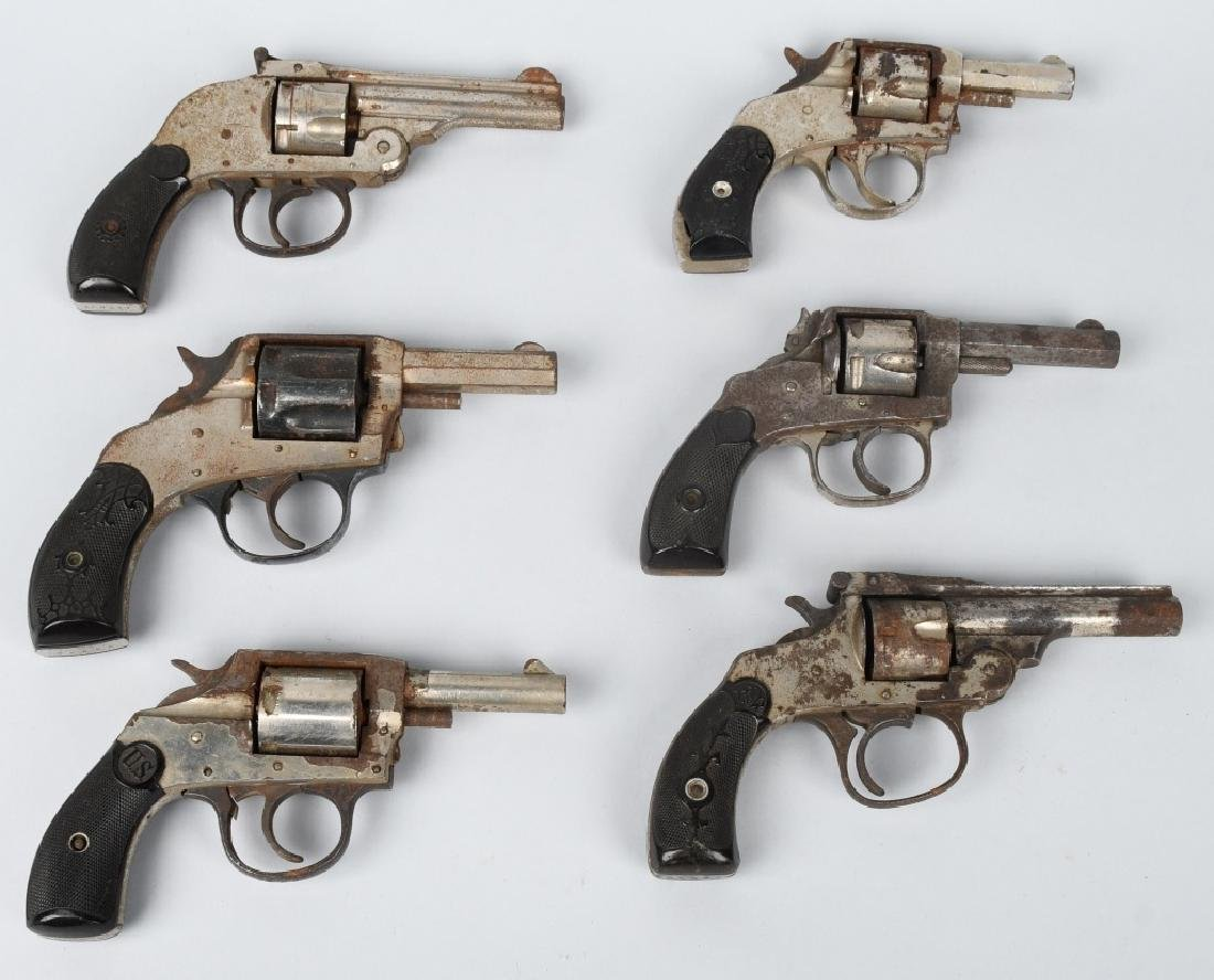 6-REVOLVERS, .32, H & R, FOREHAND, & MORE
