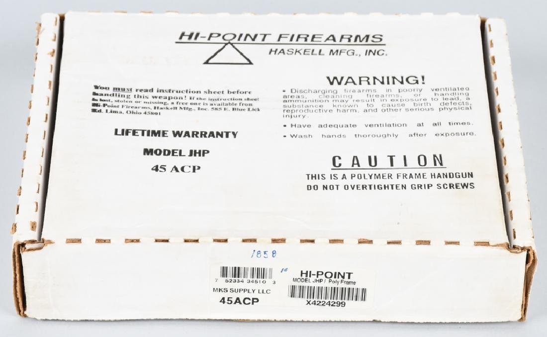 HI-POINT MODEL JHP, .45 PISTOL, BOXED - 6