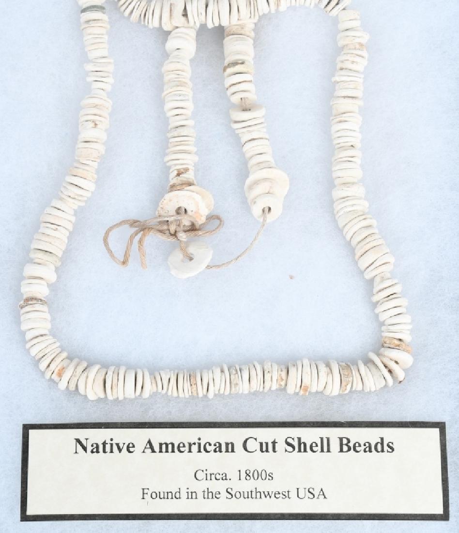 NATIVE AMERICAN CUT SHELL BEADS - 3