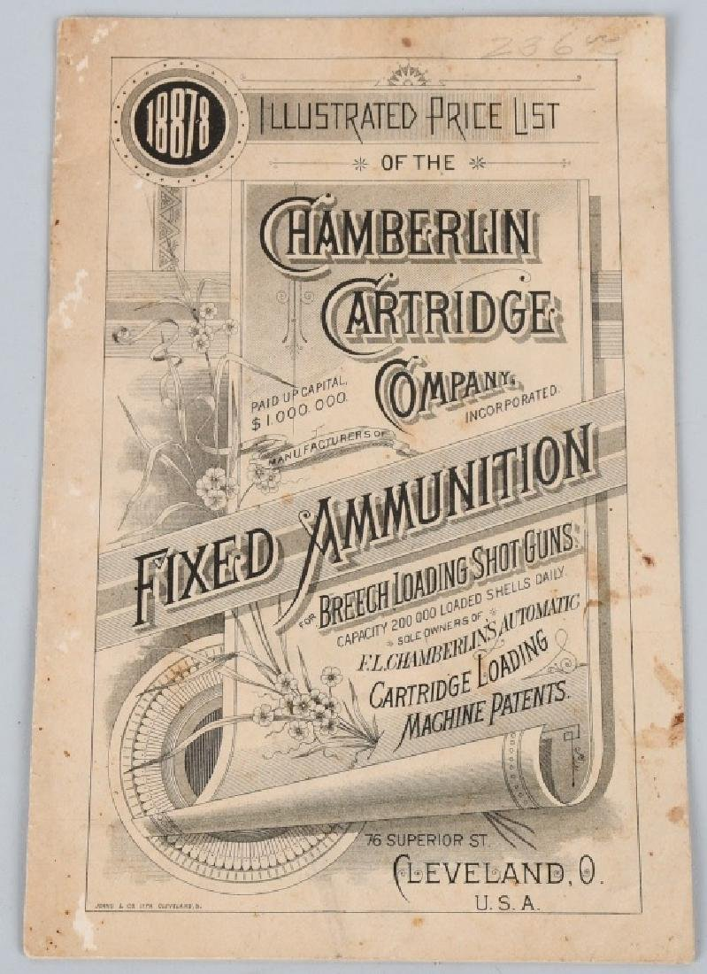 C1890 CHAMBERLIN CARTRIDGE CO. PRICE LIST BOOKLET