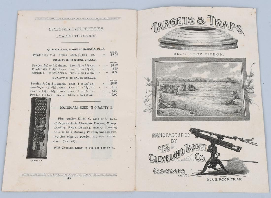 C1890 CHAMBERLIN CARTRIDGE CO. PRICE LIST BOOKLET - 5