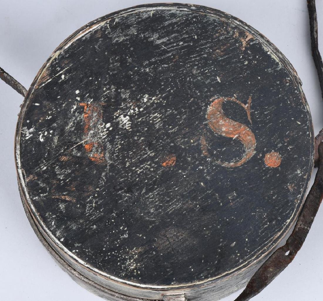 WAR OF 1812 PAINTED CANTEEN W/ INITIALS - 2