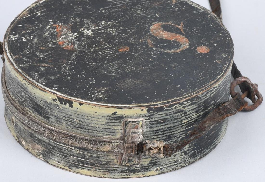 WAR OF 1812 PAINTED CANTEEN W/ INITIALS - 3