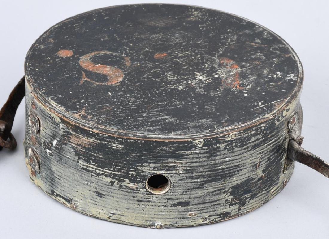 WAR OF 1812 PAINTED CANTEEN W/ INITIALS - 5