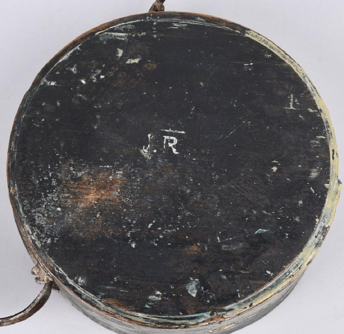 WAR OF 1812 PAINTED CANTEEN W/ INITIALS - 7