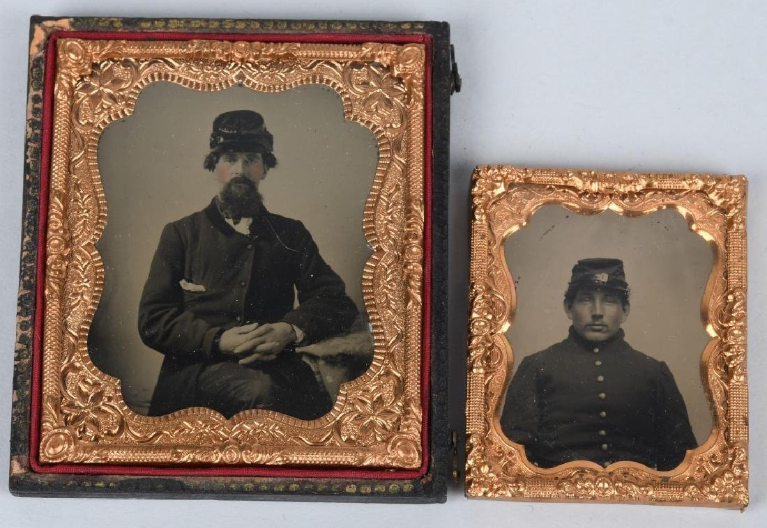 CIVIL WAR SOLDIER AMBROTYPES - 1/6TH & 1/9TH PLATE