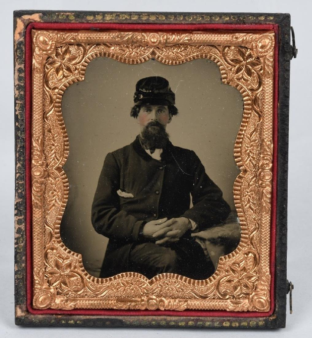 CIVIL WAR SOLDIER AMBROTYPES - 1/6TH & 1/9TH PLATE - 2