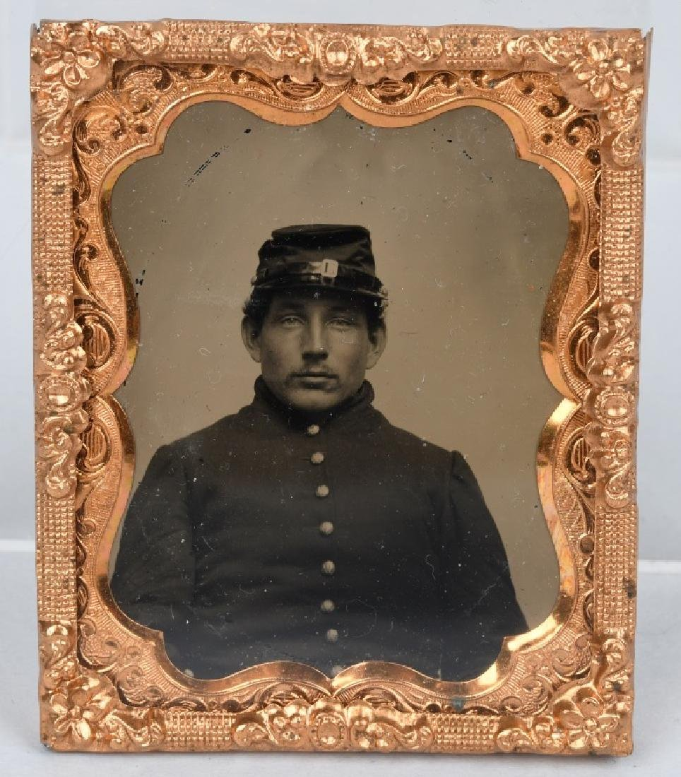 CIVIL WAR SOLDIER AMBROTYPES - 1/6TH & 1/9TH PLATE - 5