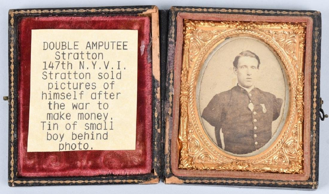 CIVIL WAR IMAGE LOT CDV & TINTYPE BOTH IN 1/9 CASE - 2
