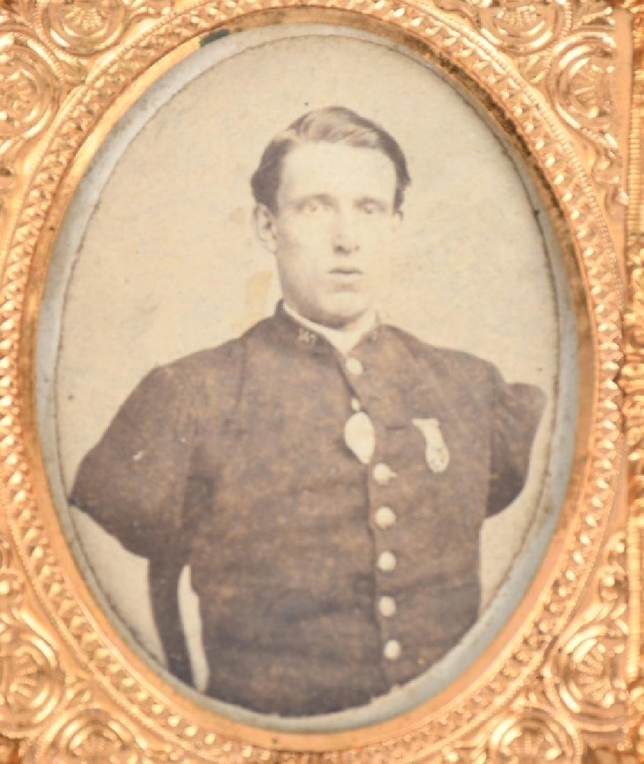 CIVIL WAR IMAGE LOT CDV & TINTYPE BOTH IN 1/9 CASE - 3