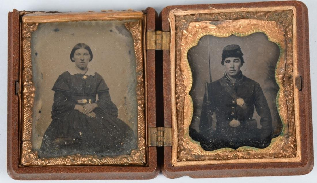 CIVIL WAR IMAGE LOT CDV & TINTYPE BOTH IN 1/9 CASE - 5