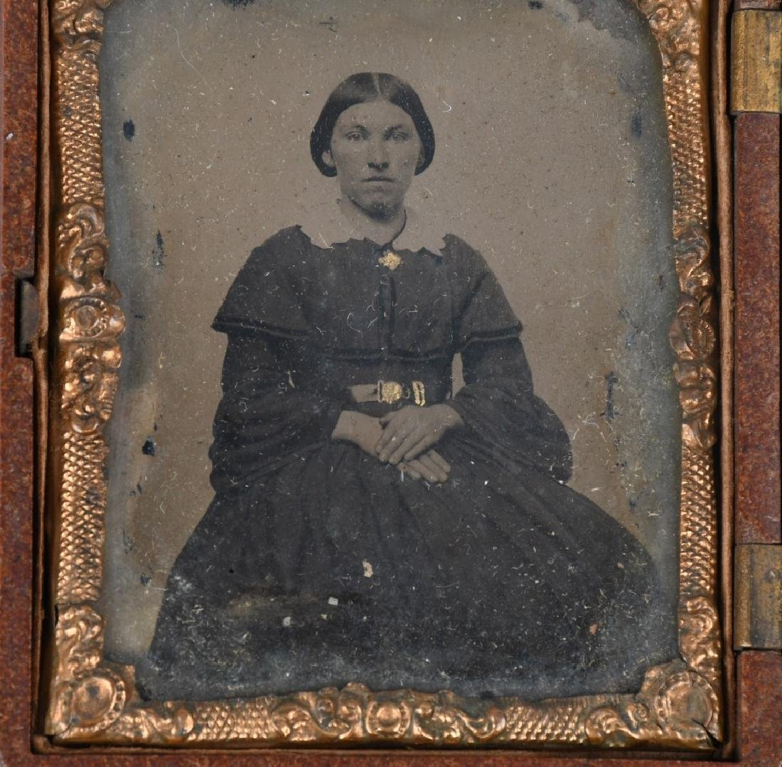CIVIL WAR IMAGE LOT CDV & TINTYPE BOTH IN 1/9 CASE - 7
