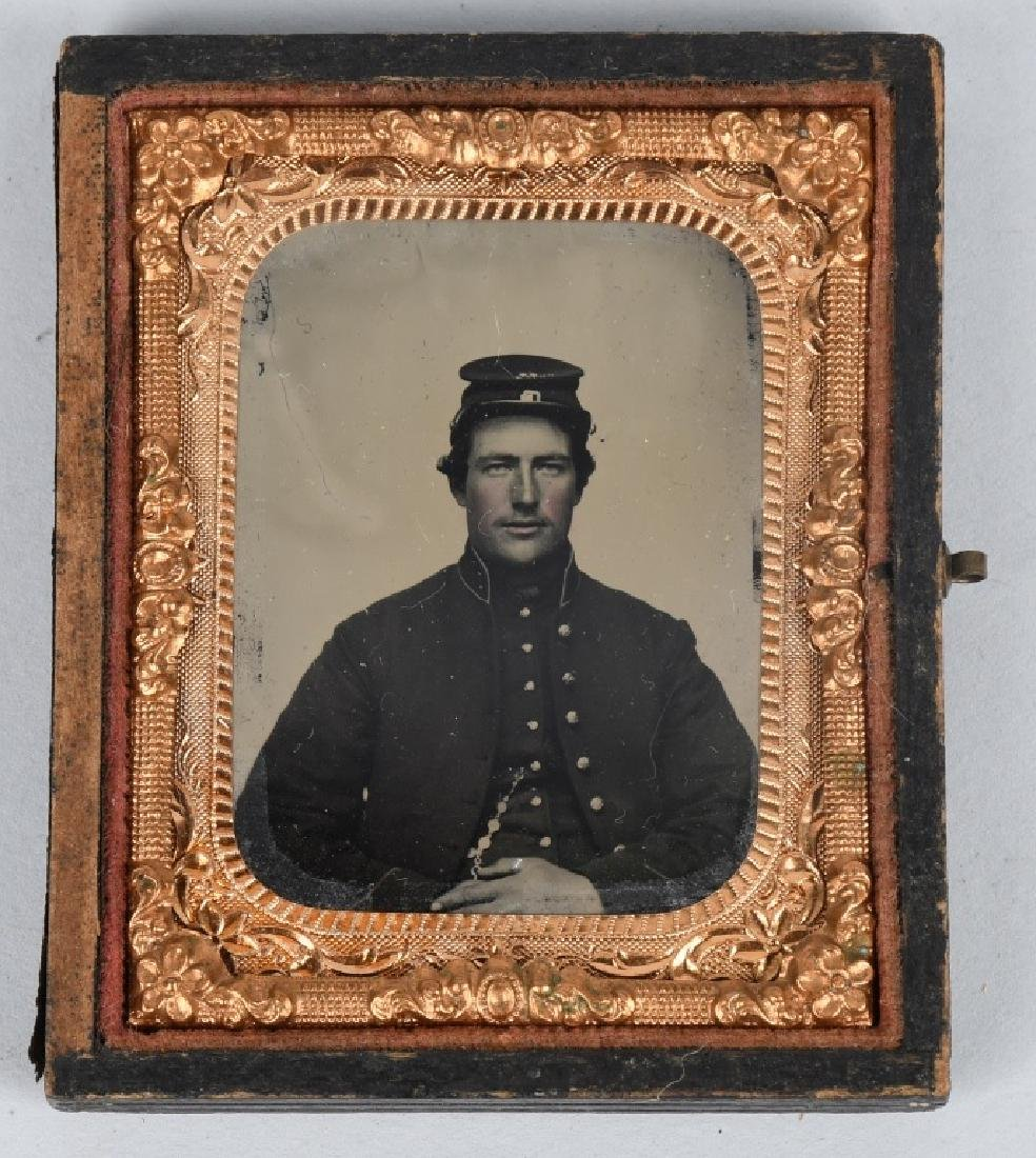 CIVIL WAR TWO 1/9 AMBROTYPE PHOTOS UNION SOLDIERS - 2