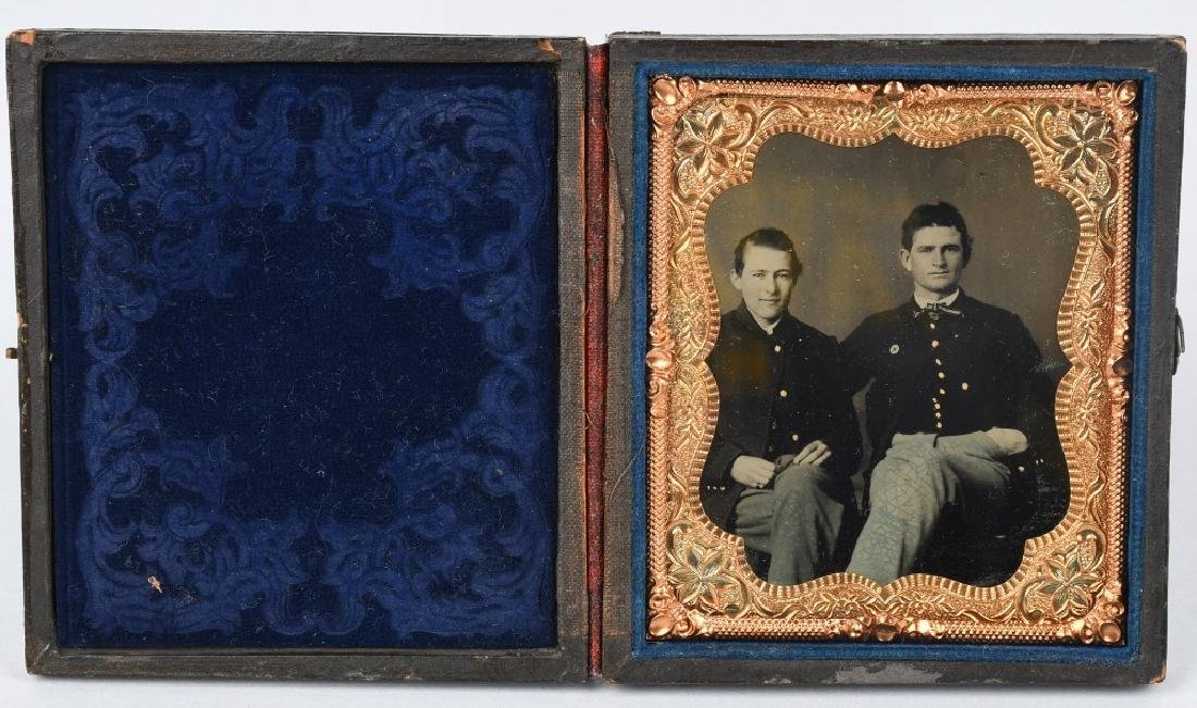 CIVIL WAR TINTYPE SOLDIERS ONE W/ 6TH CORPS BADGE