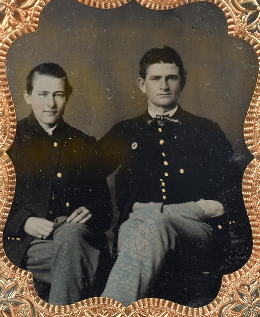 CIVIL WAR TINTYPE SOLDIERS ONE W/ 6TH CORPS BADGE - 2