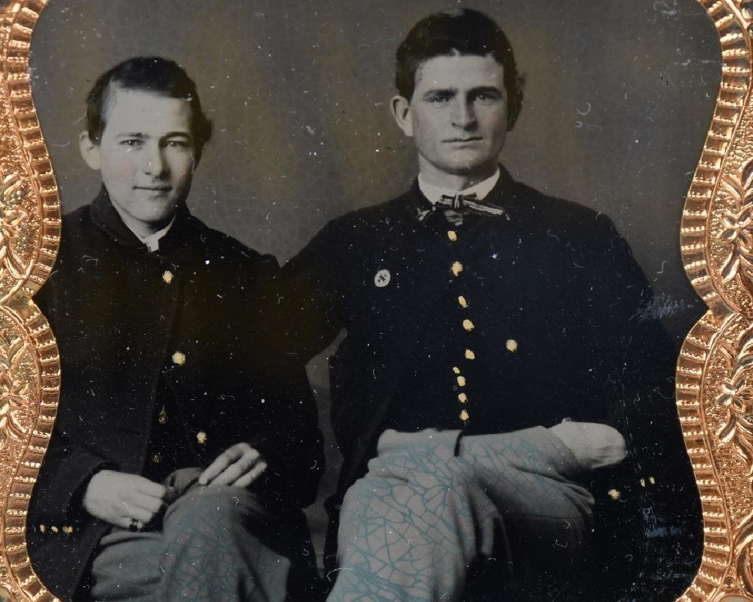 CIVIL WAR TINTYPE SOLDIERS ONE W/ 6TH CORPS BADGE - 3