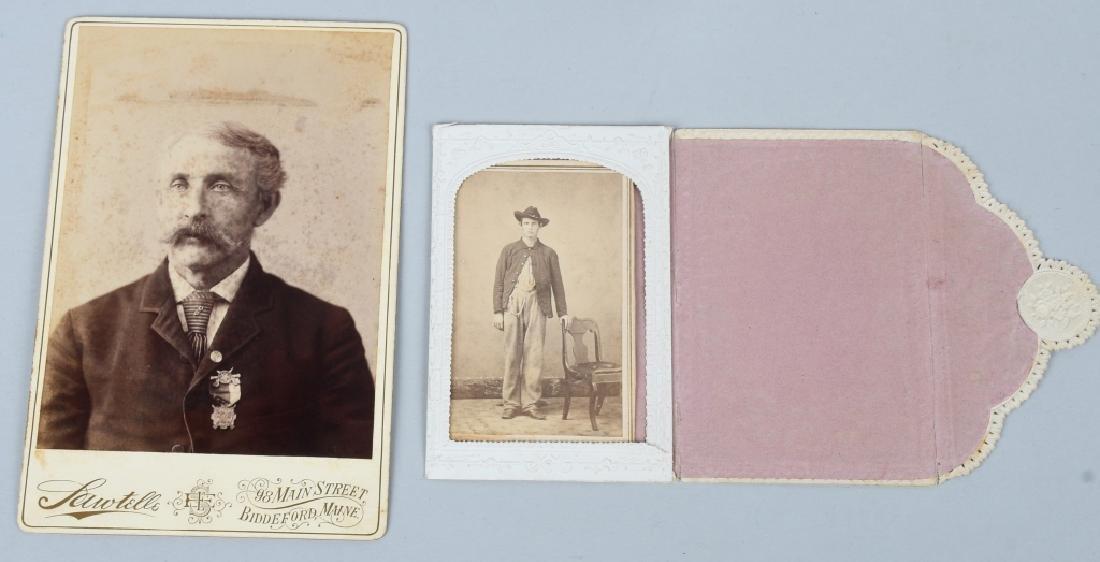 CIVIL WAR SOLDIER CDV & CABINET CARD