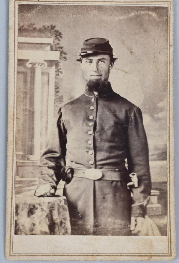 CIVIL WAR SOLDIER CDV LOT - 2 INCLUDING ONE IDED - 2