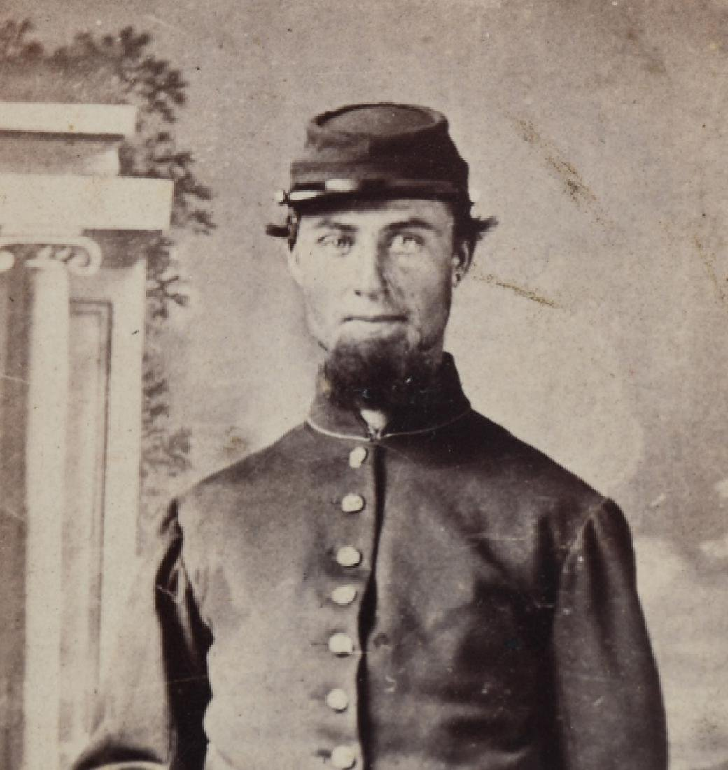 CIVIL WAR SOLDIER CDV LOT - 2 INCLUDING ONE IDED - 3