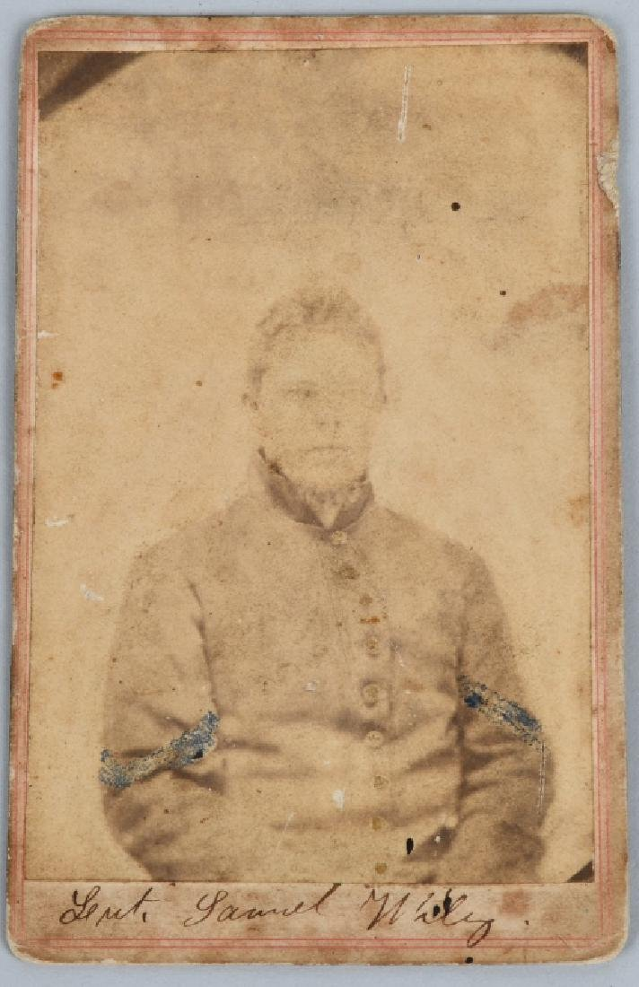CIVIL WAR SOLDIER CDV LOT - 2 INCLUDING ONE IDED - 7