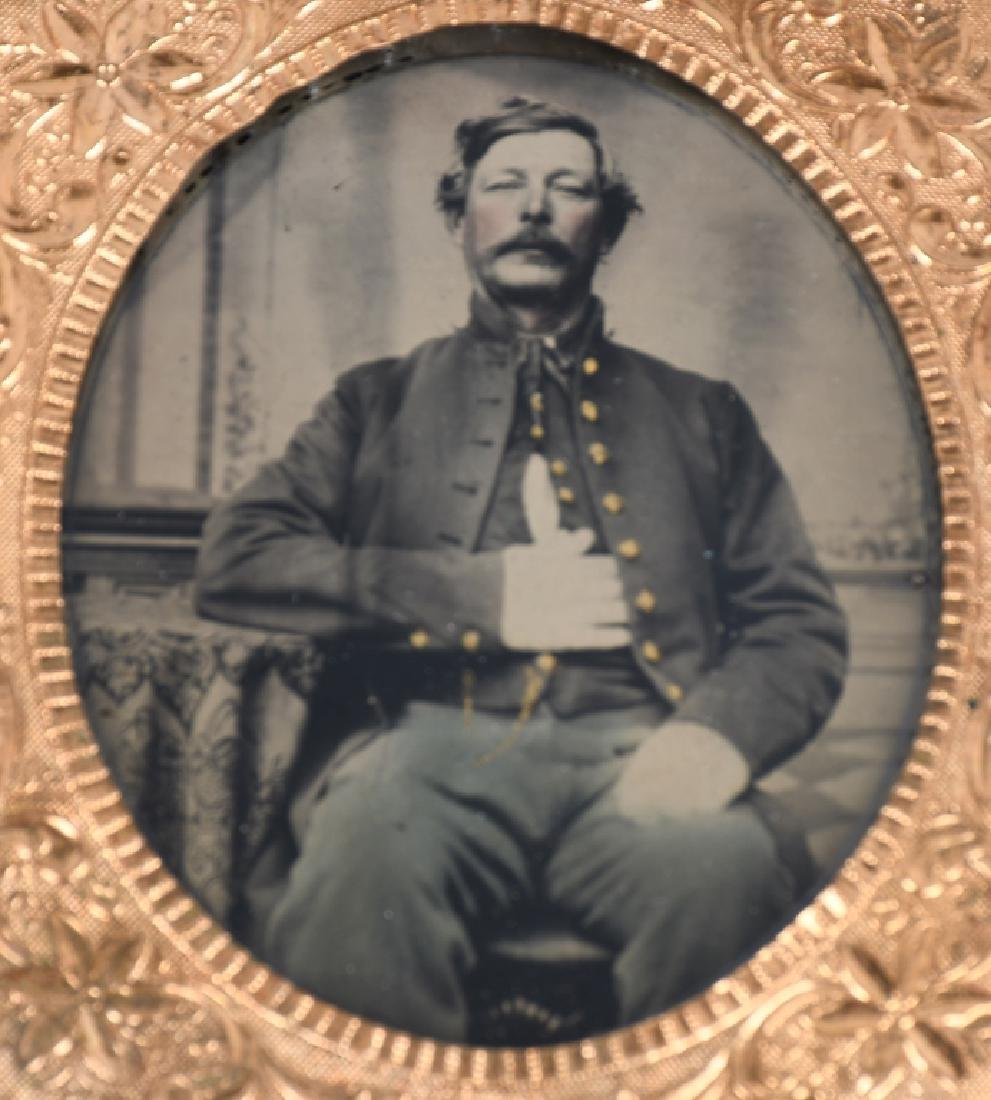 CIVIL WAR 1/6TH & 1/9TH TINTYPE LOT - ONE IDED - 2