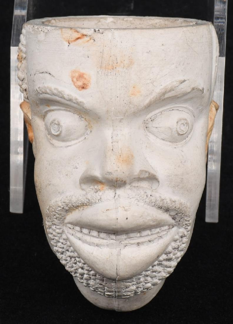 CIVIL WAR AFRICAN AMERICAN FIGURAL HEAD PIPE BOWL