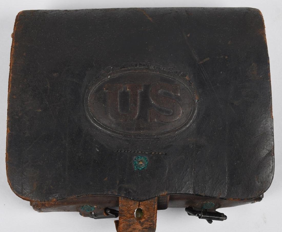 CIVIL WAR M 1864 CARTRIDGE BOX WITH TINS