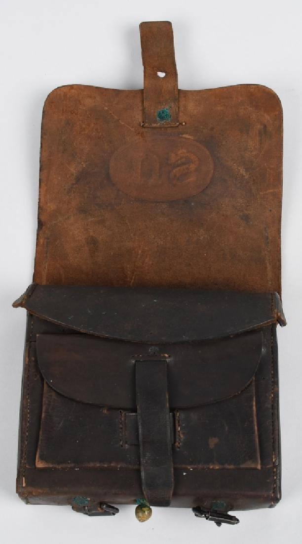 CIVIL WAR M 1864 CARTRIDGE BOX WITH TINS - 3