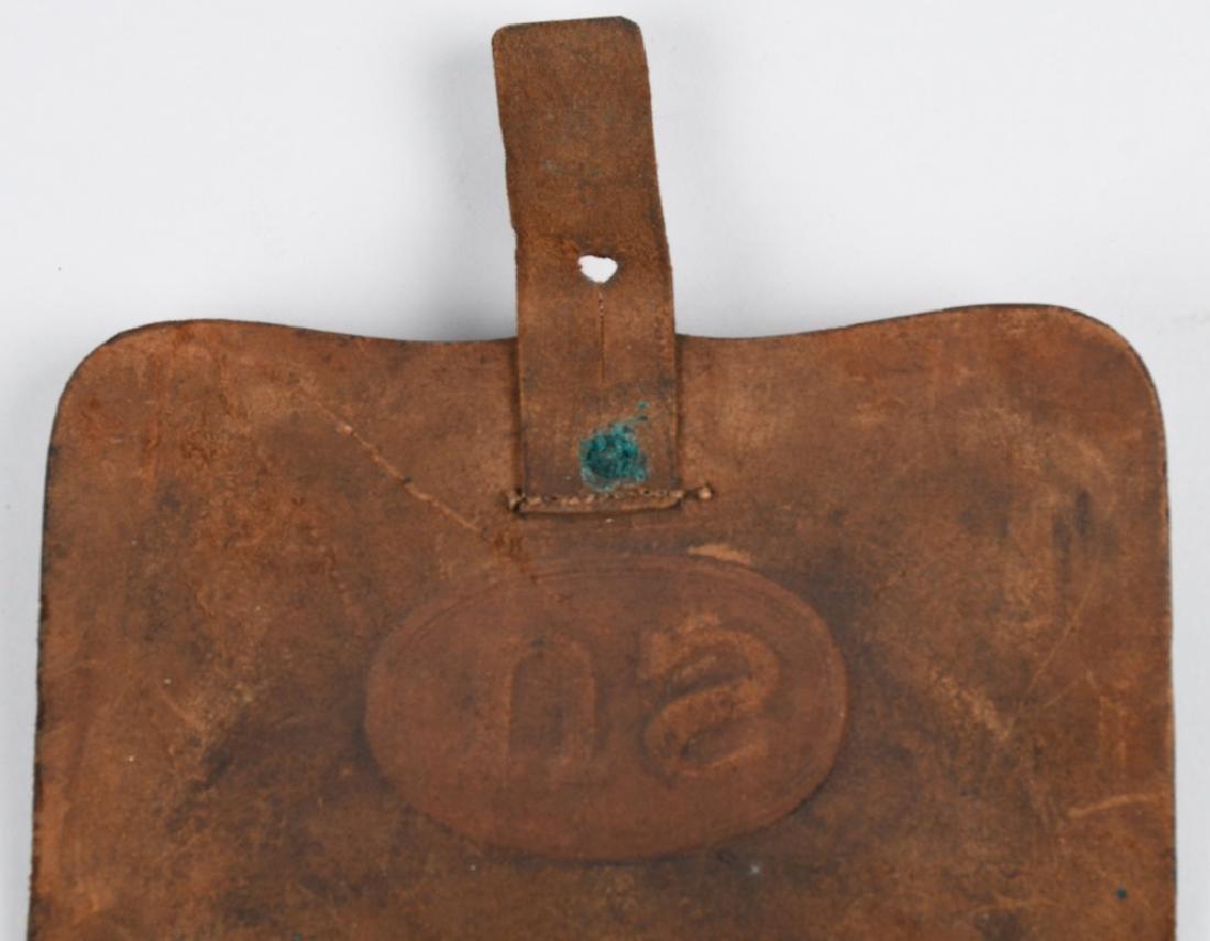 CIVIL WAR M 1864 CARTRIDGE BOX WITH TINS - 4