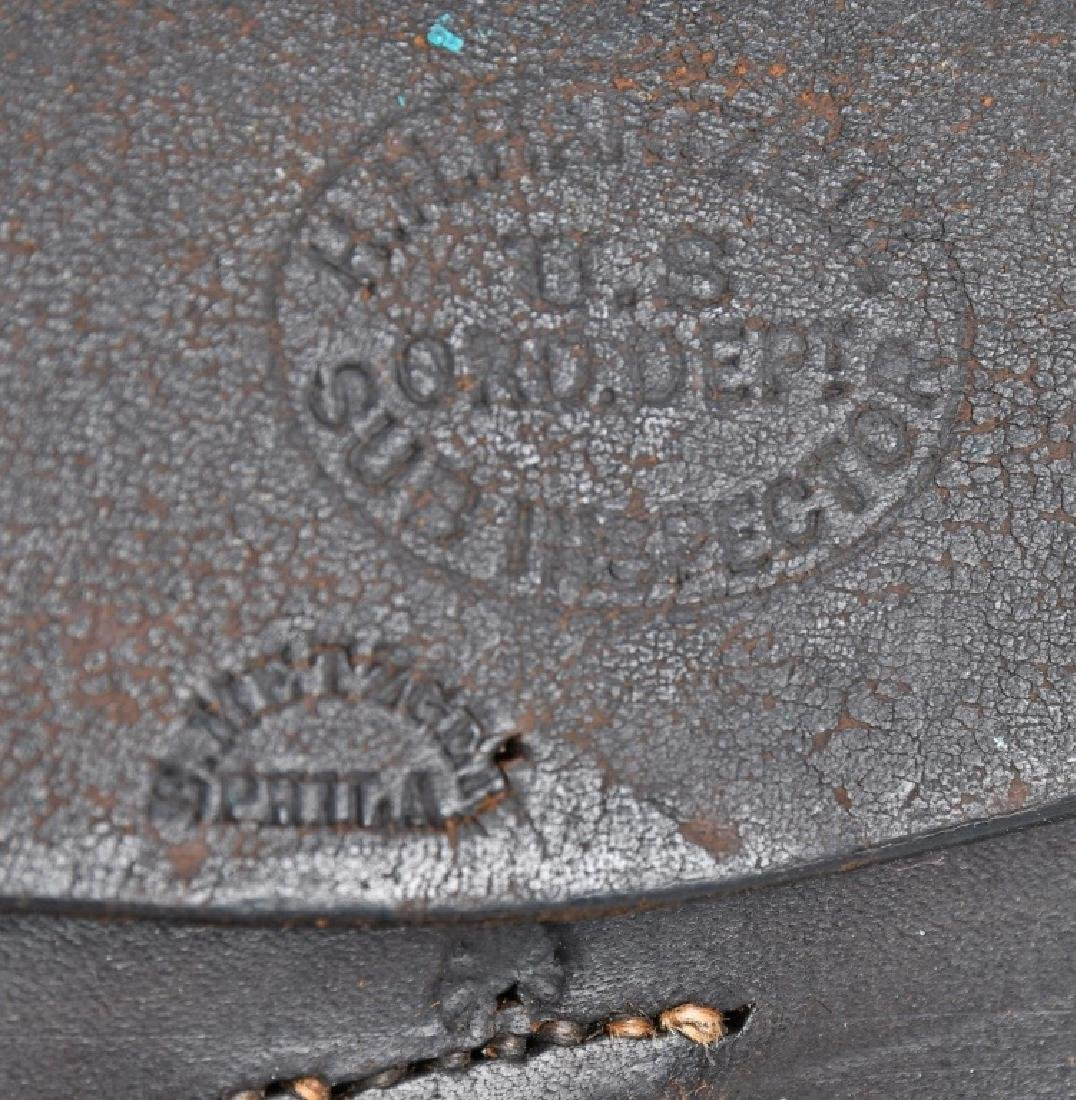 CIVIL WAR M 1864 CARTRIDGE BOX WITH TINS - 5