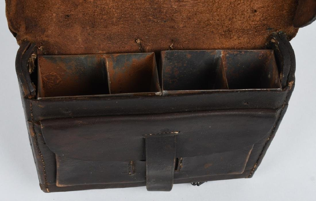 CIVIL WAR M 1864 CARTRIDGE BOX WITH TINS - 6