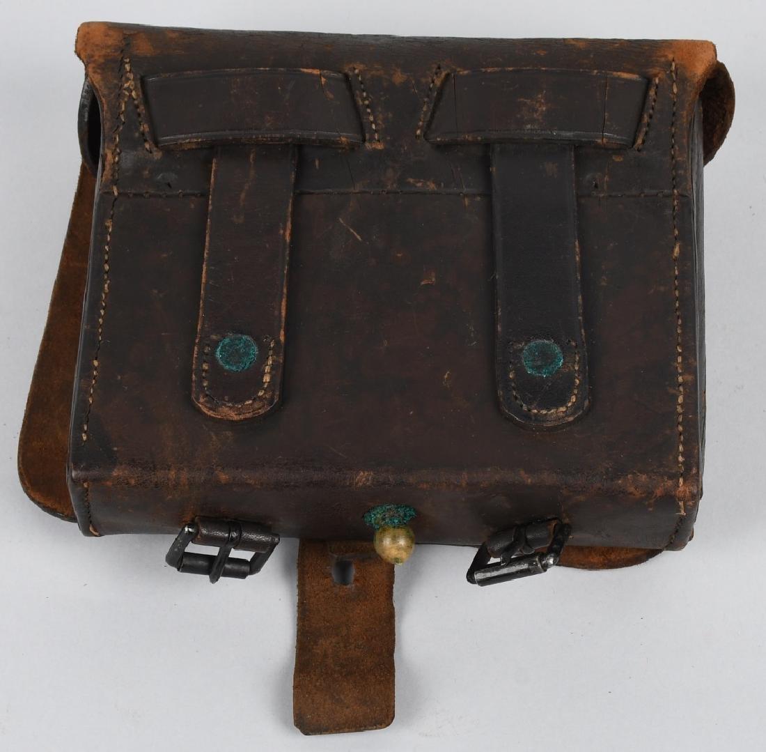 CIVIL WAR M 1864 CARTRIDGE BOX WITH TINS - 7