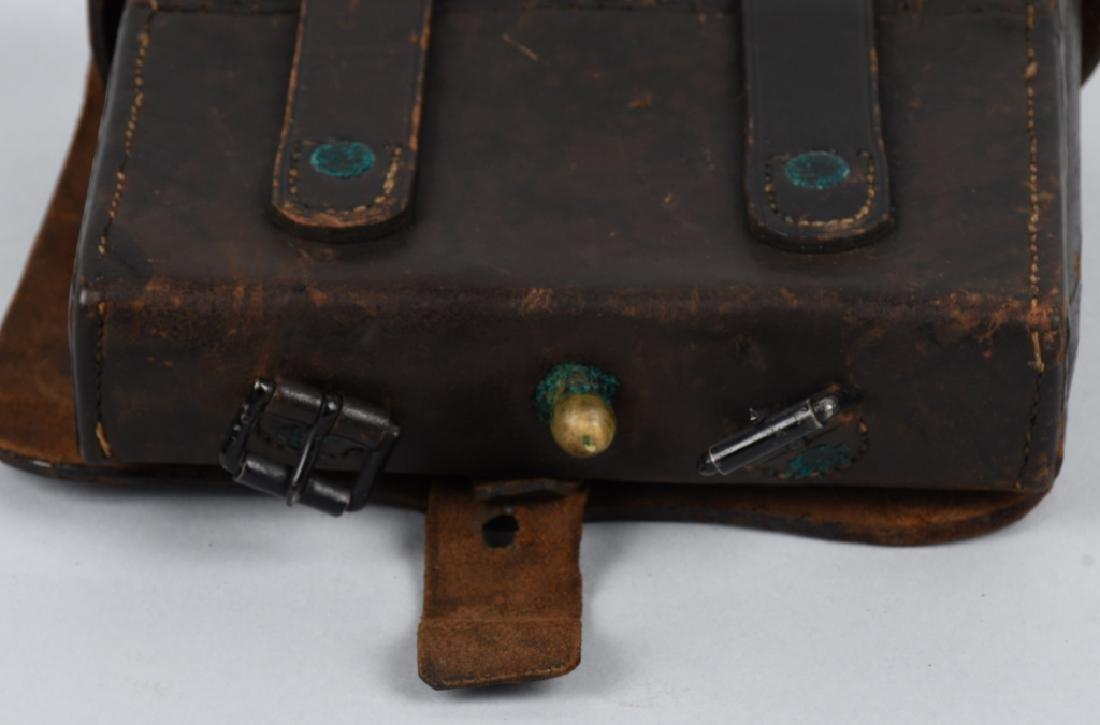 CIVIL WAR M 1864 CARTRIDGE BOX WITH TINS - 8
