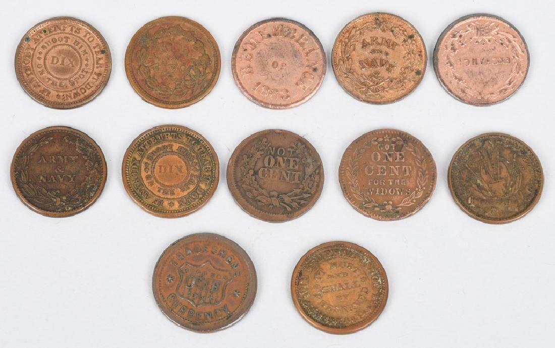 12-1863-1864 CIVIL WAR TOKENS - 2