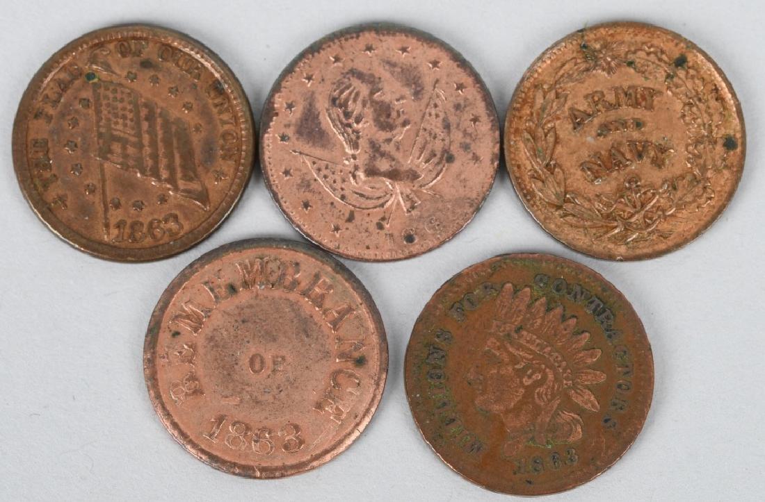 12-1863-1864 CIVIL WAR TOKENS - 3