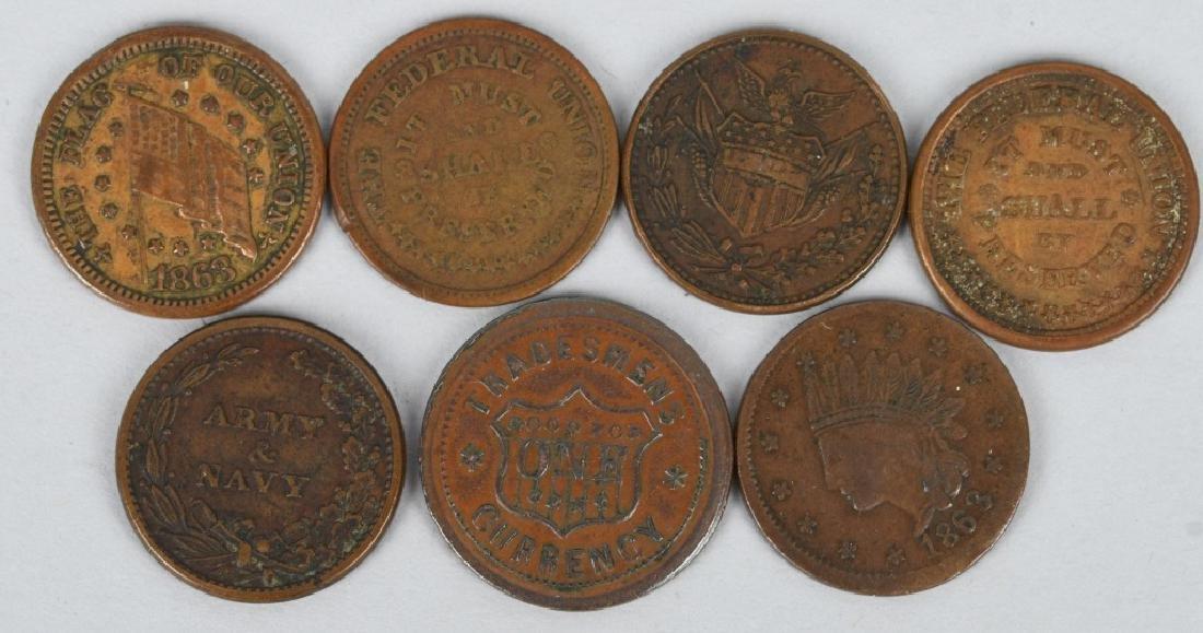 12-1863-1864 CIVIL WAR TOKENS - 4