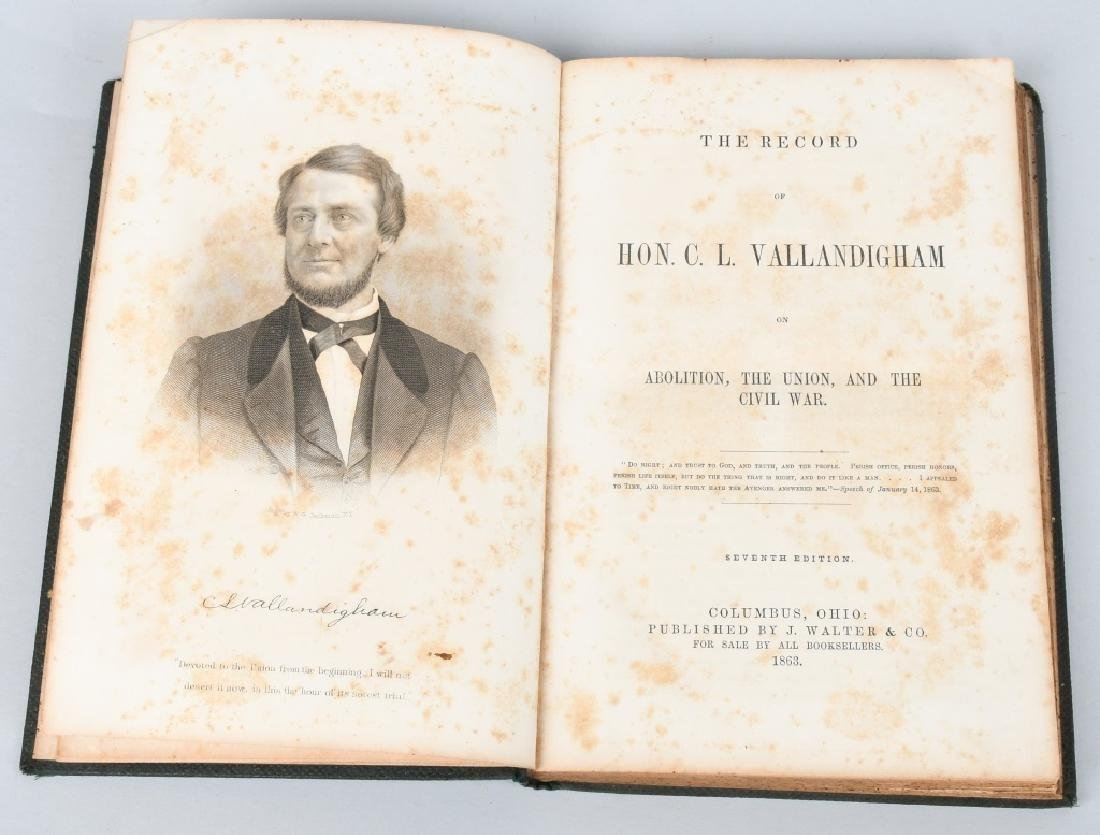CIVIL WAR CDV CLEMENT VALLANDIGHAM & 1863 BOOK - 2
