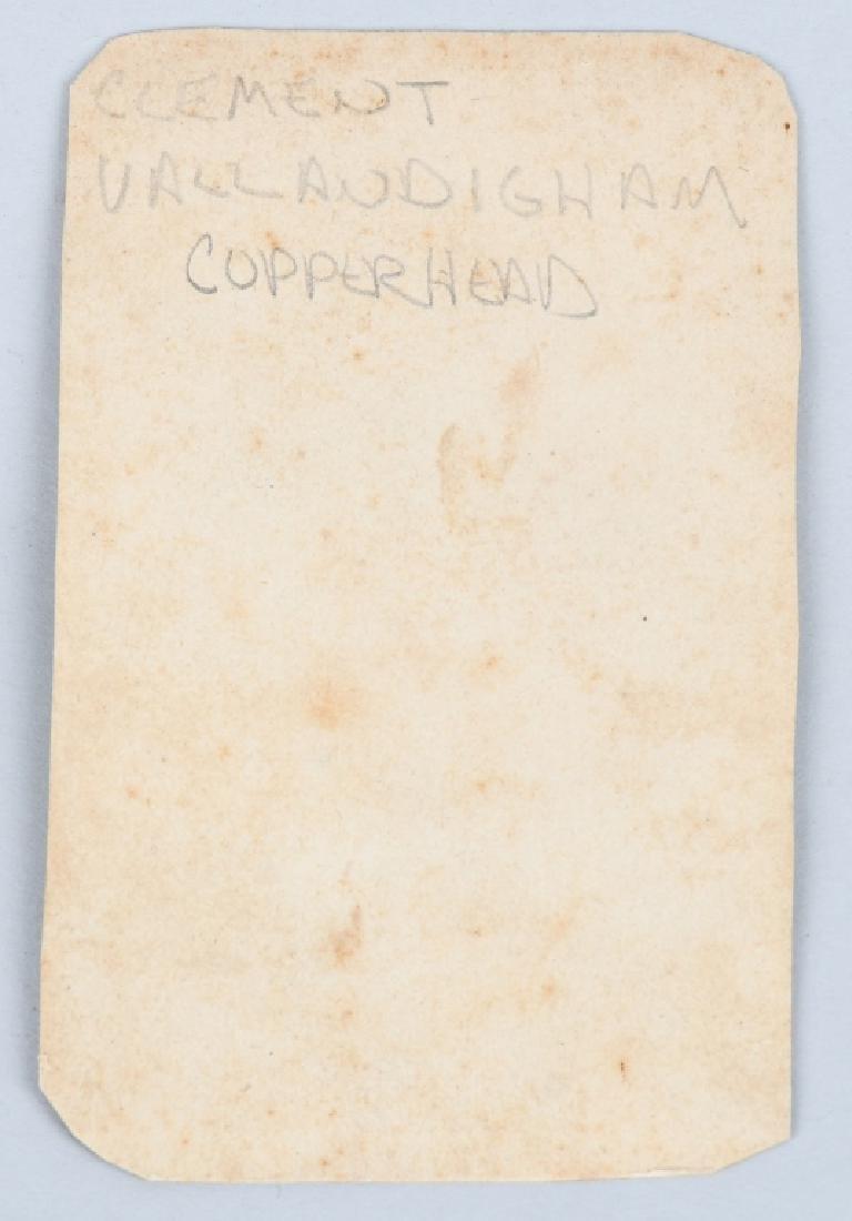 CIVIL WAR CDV CLEMENT VALLANDIGHAM & 1863 BOOK - 6