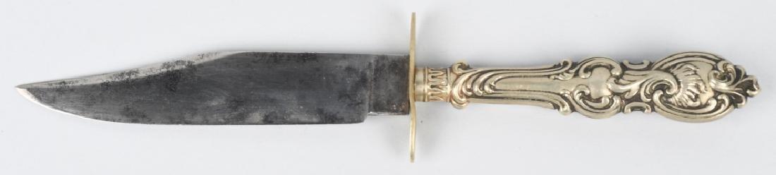 CIVIL WAR ERA SILVER HANDLE BELT KNIVE - 3