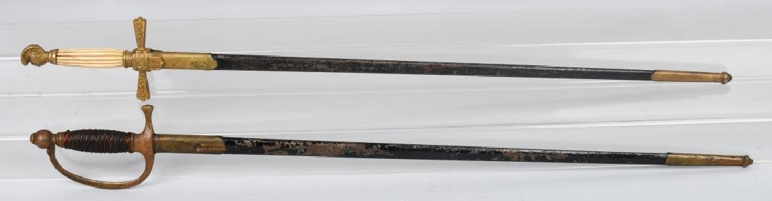 CIVIL WAR M1840 MUSICIAN SWORD & MILITIA SWORD